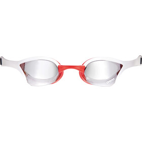 arena Cobra Ultra Mirror Okulary pływackie, silver-white-red